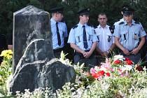 Uctění památky zastřeleného policisty Romana Jedličky