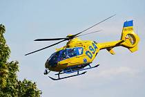 U nehody zasahoval i vrtulník záchranářů