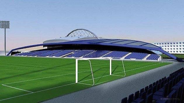 Vizualizace letního stadionu.