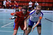 Zápas juniorek Česka proti Finsku.
