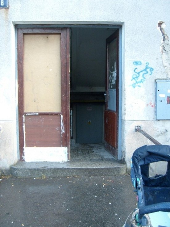 Vstupní dveře do domu.
