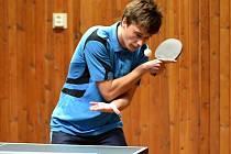 Na snímku je hráč KST Jirkov B Michal Dänner, který přispěl k výhrám svého týmu pěti body.