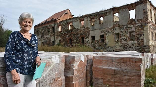 Prezidentka spolku Via Levamente, který usiluje o záchranu památky, Lenka Kodešová.