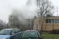 Požár v jirkovské sauně.