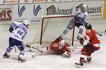 Snímky ze zápasu KLH Chomutov s HC Olomouc.