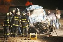 Snímek z tragické nehody na Lounsku.