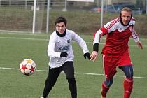 Marek Strada a bývalý hráč FC Chomutov Maroš Klimpl (vpravo)