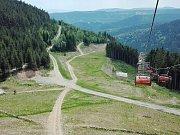 Výhled z lanovky Prima Express na Klínovci