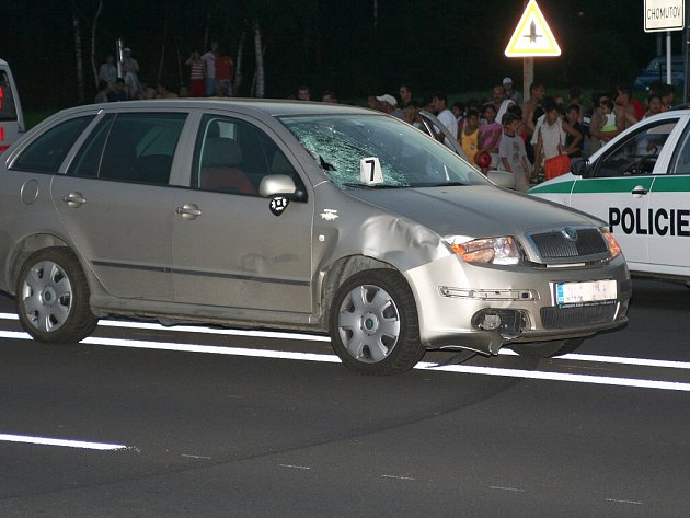Vozidlo krátce po nehodě.