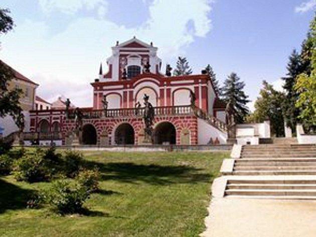 Historická salla terena v zámeckém parku.