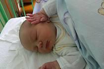 Honzík Ťažký se narodil dne 22.10.2013 ve 4.07 hod. v porodnici v Kadani. Maminka Petra Ťažká ho přivedla na svět s váhou 4,74 kg a mírou 55 cm. Doma se na malého Honzíka těší tatínek Jan Ťažký a bráška Ondrášek. Foto poslala rodina.