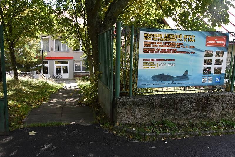 Muzeum letecké bitvy nad Krušnohořím v Kovářské.