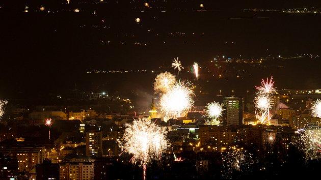 Příchod nového roku v Chomutově