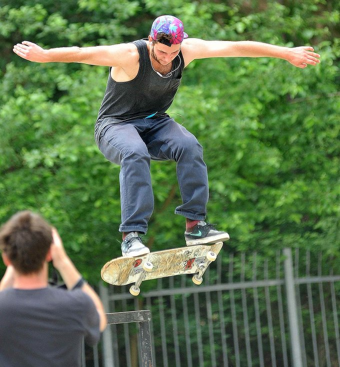Skateboardové závody v Eldorádu.