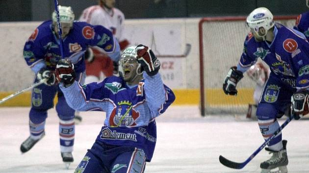 Snímek z vítězného utkání s Olomoucí.