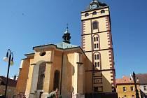 Městská věž v Jirkově. Archivní foto