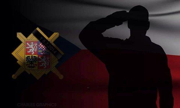 Pietní grafika, kterou vytvořili kolegové padlých vojáků.