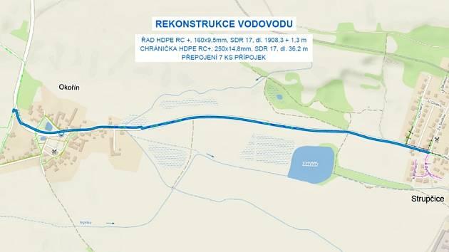 Obyvatelé Strupčic a Okořína budou mít nový přívodní řad
