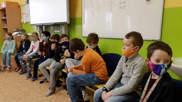 Třídnické hodiny v 3. B na ZŠ Kadaňská v Chomutově.