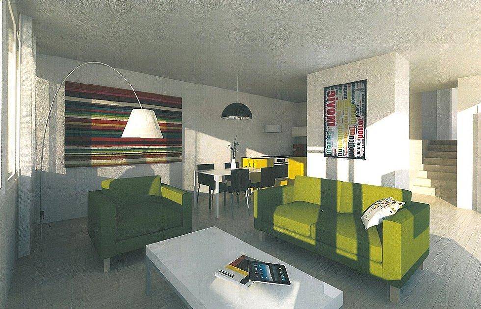 Architekti navrhli i vnitřní podobu bytů. Ta ale záleží na nájemnících.