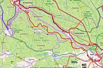 Svižná cesta si vybere svou daň ihned poté, co překročíme hranice zpět. Následuje totiž asi 12 kilometrů, téměř nepřetržitého mírného stoupání. Není se ale čeho bát, zvládne ho i průměrný cyklista.