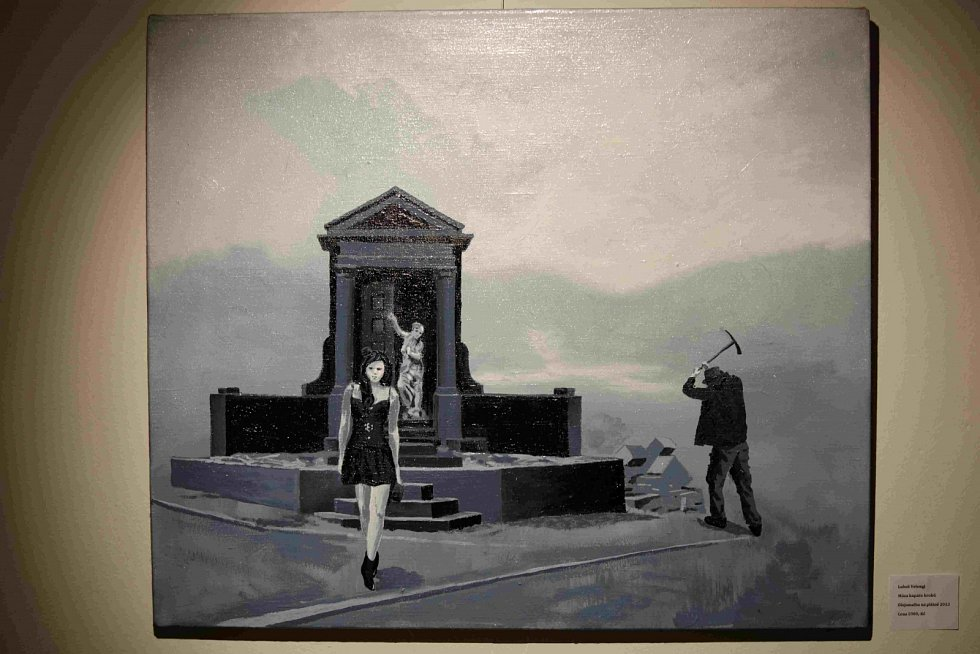 "Výstava Luboše Vengela ""Hrobníkův sen""."