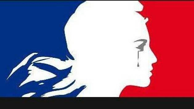 Jeden z profilových obrázků k tématu teroristických útoků v Paříži.