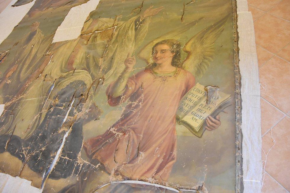Detail oltářního obrazu.