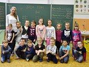 ZŠ Bystřice, 1. A třídní učitelka Jiřina Zemanová