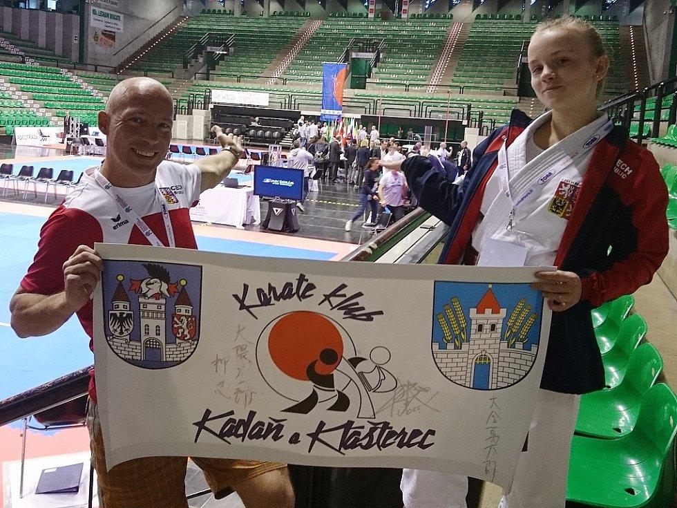 Kristýna Tesařová a kadaňský trenér Josef Patík