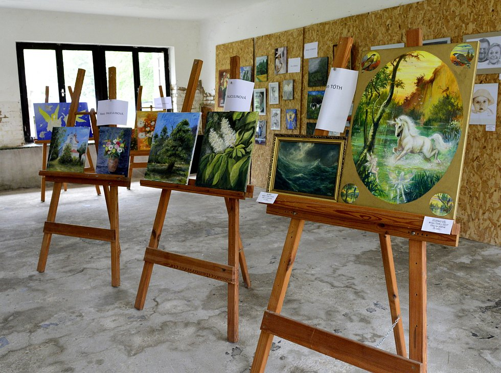 V Boleboři na Chomutovsku se sochalo, malovalo. Vernisáž proběhla v sobotu odpoledne v patnáct hodin. Některá díla byla zařazena do organizace Rozka.