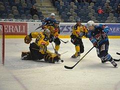 V olympijské přestávce byli Piráti v modrém úspěšní, dvakrát zdolali Litvínov.