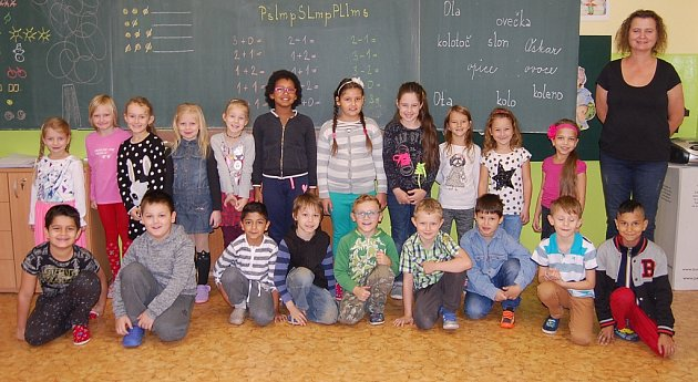 Žáci 1.C ZŠ Březenecká vChomutově paní učitelky Evy Preibischové