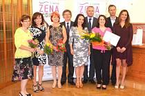 Další oceněné, zleva Marta Vachová, Eva Břeňová, Jan Krpatová.