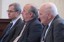 Martin Pinl, Jiri Slabyhoud, Ladislav Gerle před plzeňským soudem.