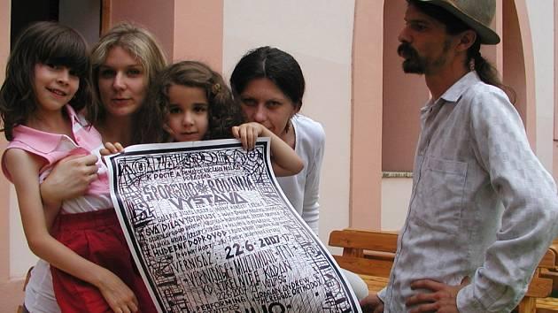 Josef Šporgy se svou rodinou.