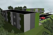 Jeden ze snímků z vizualizace areálu startovacích bytů.