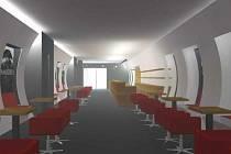 TAKHLE BUDE VYPADAT kavárna ve zrekonstruovaném kině Egerie v Klášterci nad Ohří.