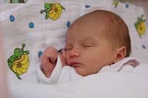Klidně spinká malá Nela Rýdlová, která přišla na svět 27. března 2013 ve 21.22 hodin. Maminka Denisa Rýdlová z Chomutova ji přivedla na svět v chomutovské nemocnici s mírami 49 centimetrů a 2,65 kilogramů.