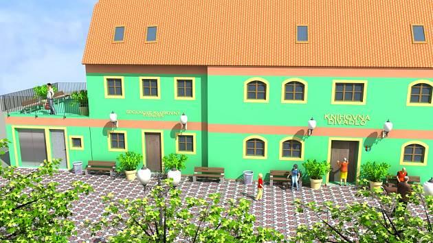 Centrum vzniká rekonstrukcí domu v srdci Račetic.