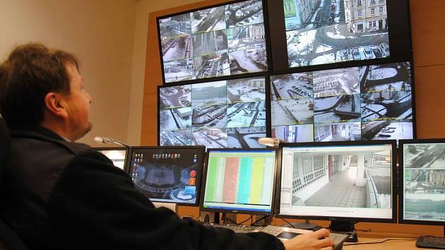 Kamerový systém městské policie v Jirkvově.