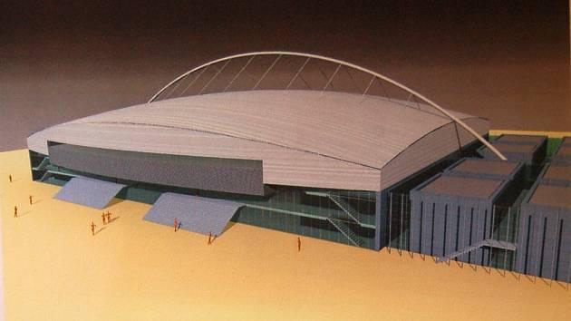 Takhle bude vypadat nový zimní stadion v Chomutově, který vyroste v areálu Vinohradských kasáren.