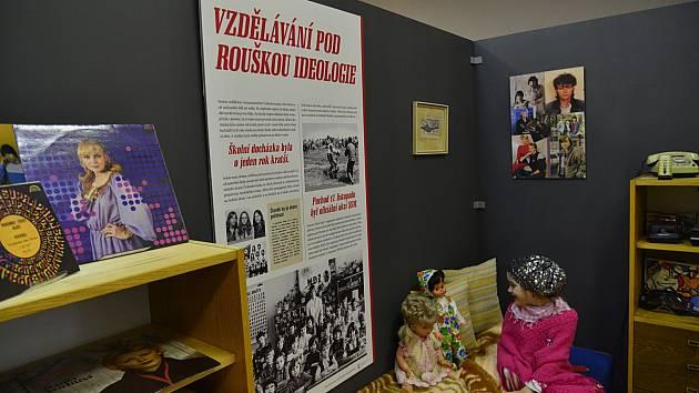Výstava Únik z totality v chomutovském muzeu.