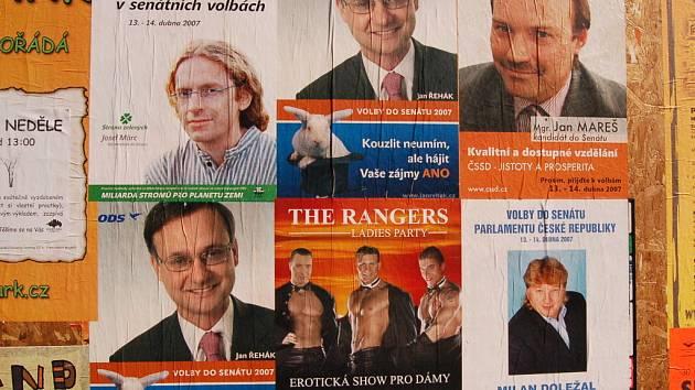 Snímky kandidátů.