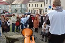 Happening učitelů v Klášterci nad Ohří.