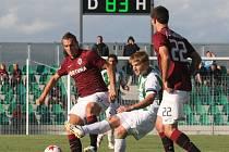 Ze zápasu Chomutov - Sparta.