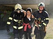 Hasiči nacvičovali zásah při požáru ve starých lázních