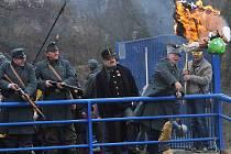 Dobrý voják Josef Švejk zapálil Moranu, poté ji hodil do Ohře. Už hořící figurínu pro jistotu ještě rozstříleli příslušníci císařsko-královského rakousko-uherského vojska.