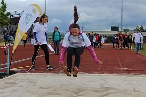 Sazka Olympijský víceboj na atletickém stadionu v Chomutově.
