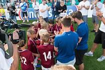 Ondrášovka Cup na chomutovském stadionu.